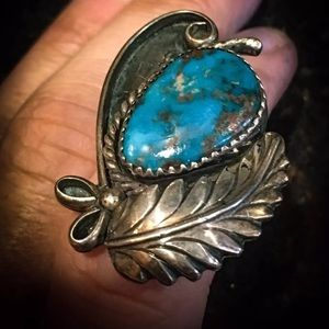 Navajo Robin egg turquoise ring Sterling silver